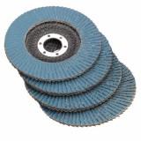 115mm x 8mm Flap Sanding Disc 40 60 80 120 Grit Angle Grinder Wheel
