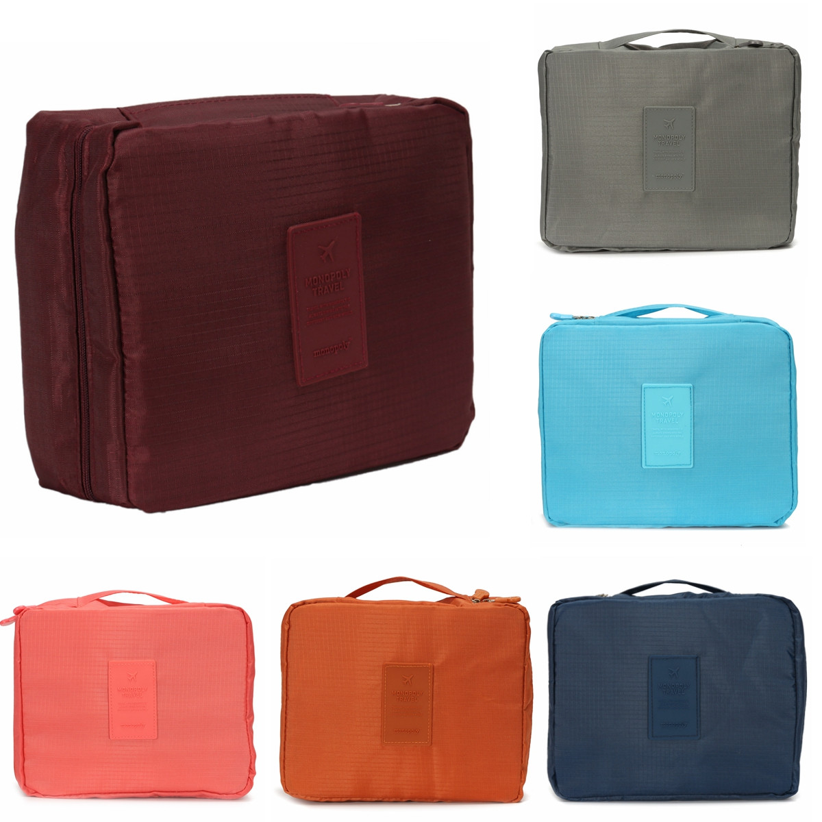 ... Cosmetic Makeup Bag Toiletry Case Wash Organizer Storage Hanging Pouch