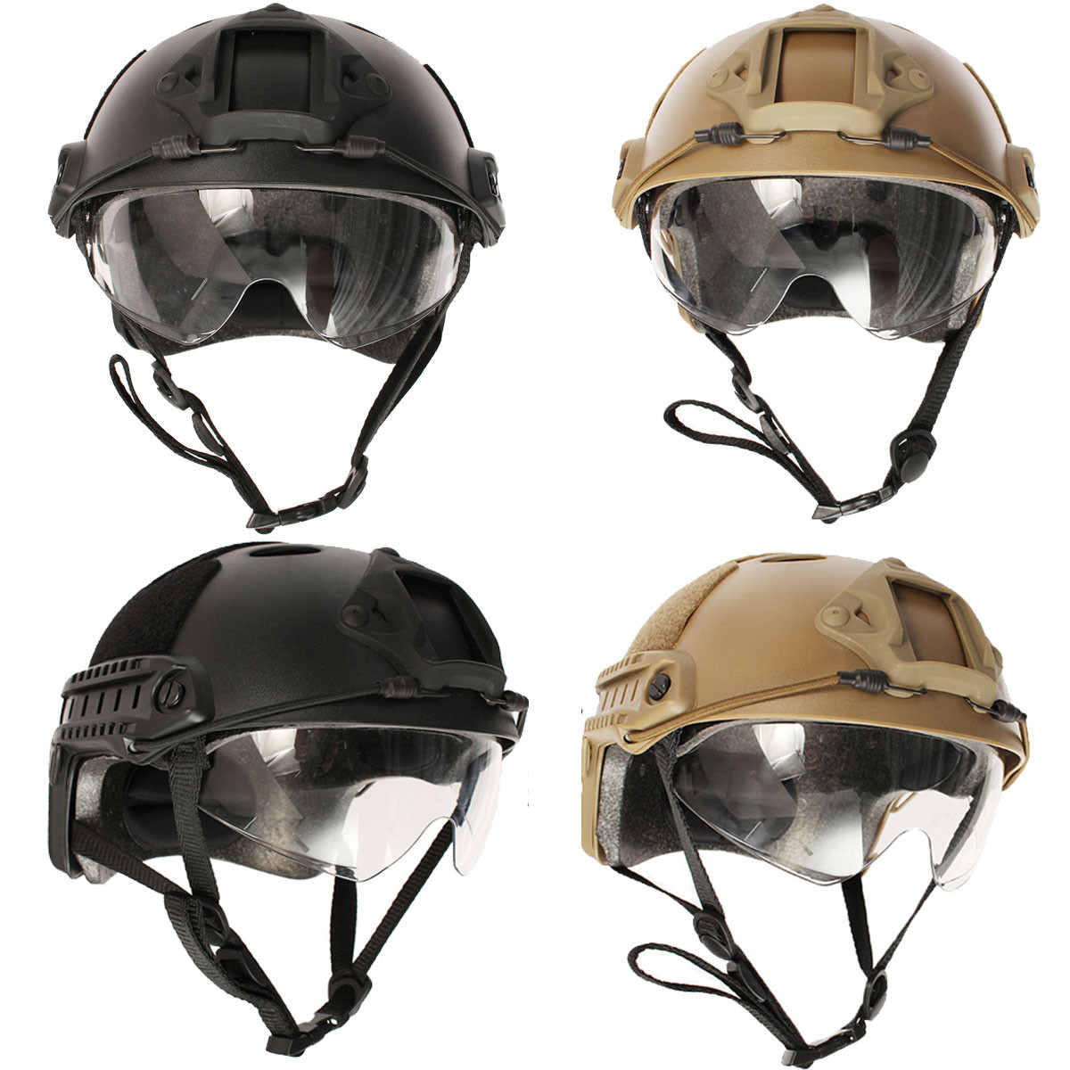 Tactical Airsoft Paintball SWAT War Game Protective Fast ...