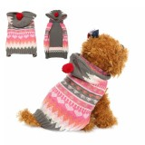 Pet Dog Cat Snowflake Sweater Winter Warm Coat Jacket Clothes Vest Costume Jacket Hat Apparel Hoodie