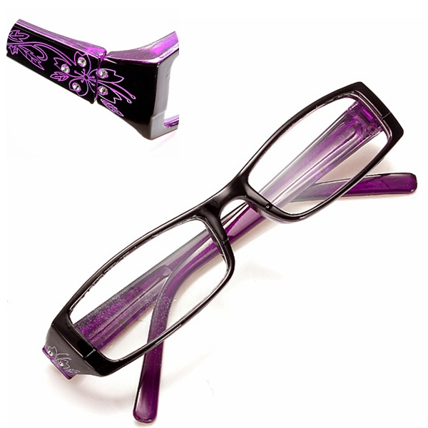Purple Female Diamond Flower Frame Presbyopic Reading ...