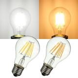 E27 A60 LED 8W COB Edison Retro Filament Light White/Warm White Tungsten Globe Lamp Bulb AC 220V