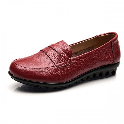 New Women Soft Casual Comfortable Flats Loafers Slip-On Fashion Round Toe Flats Shoes
