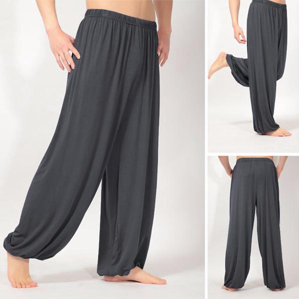 Mens Loose Yoga Pants Morning Practice Sports Pants