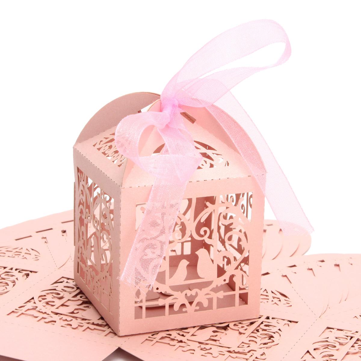 10pcs Pierced Birdcage Candy Sweet Gift Box Wedding Party Cake ...