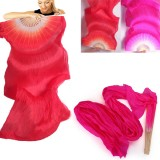 1.8m Lengthen Belly Dance Fan Silk Bamboo Fans Dance Dancing Performance Supplies