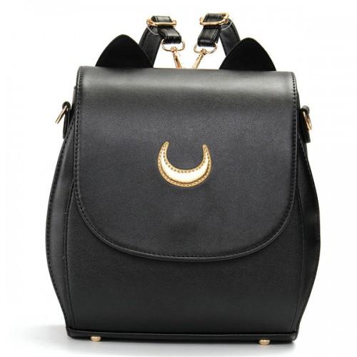 Women Cat Sailor Moon Luna Backpack Girls Cute Cosplay Rucksack School Bags | Alexnld.com