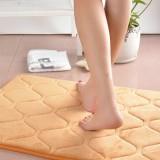 80x50cm Absorbent Anti Slip Memory Foam Carpet Bath Rug Coral Velvet Chronic Rebound Floor Mat