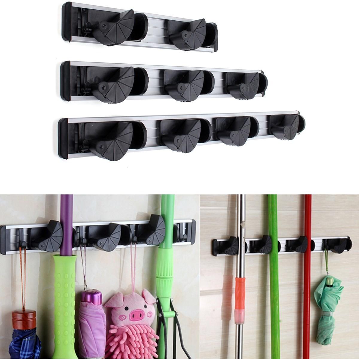 Multiduction Aluminium Wall Mounted Mop Broom Holder Brush