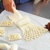 Plastic Pizza Lattice Roller Cutter Pie Bread Pastry Baking Tool