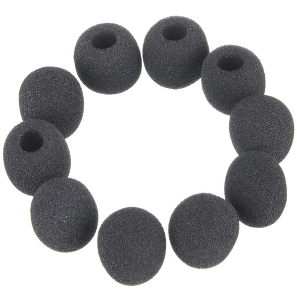 10pcs Black Small Foam Covers Windscreen For Lavalier Lapel Microphone