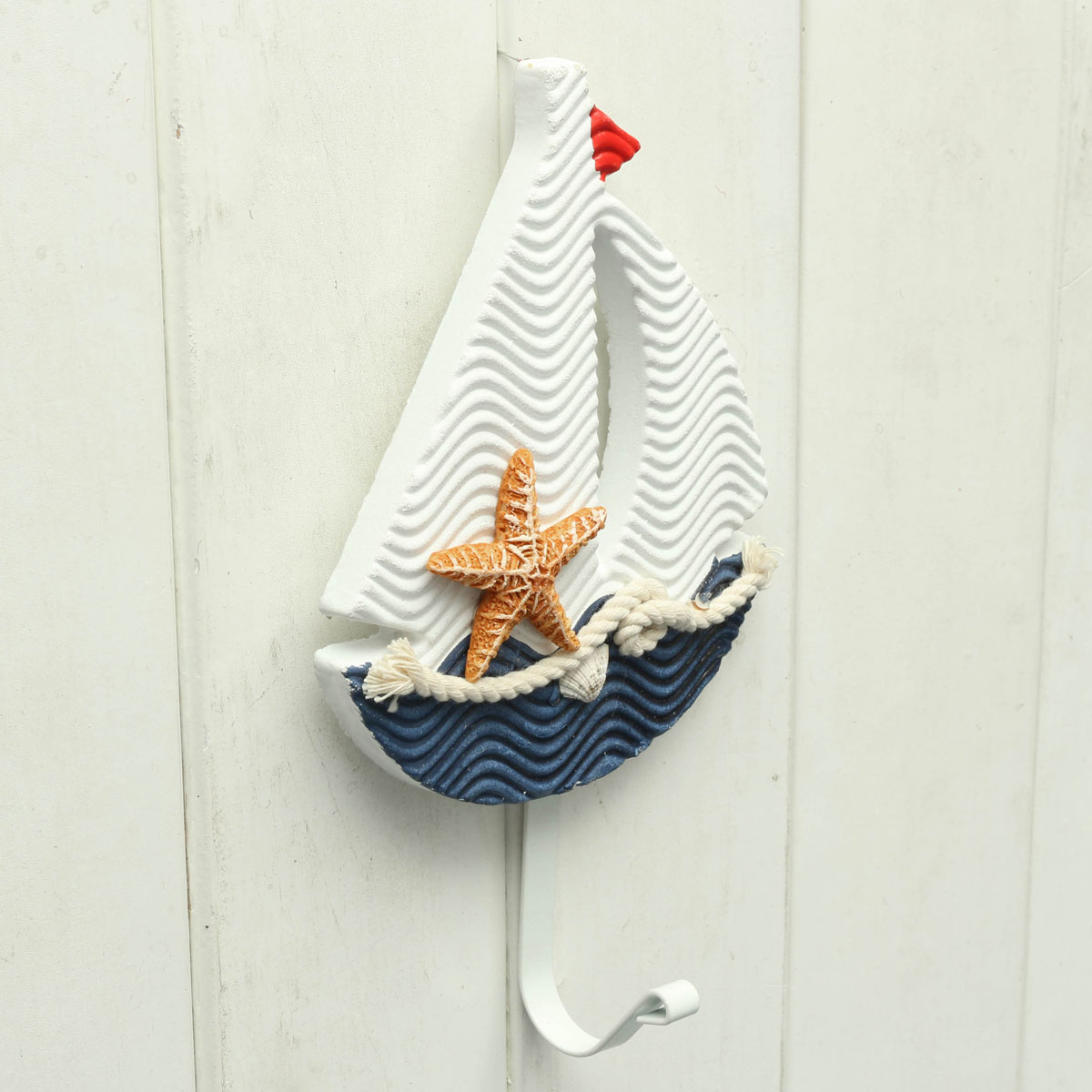 Mediterranean style pothook nautical hat clothes home wall for Decoration hangers