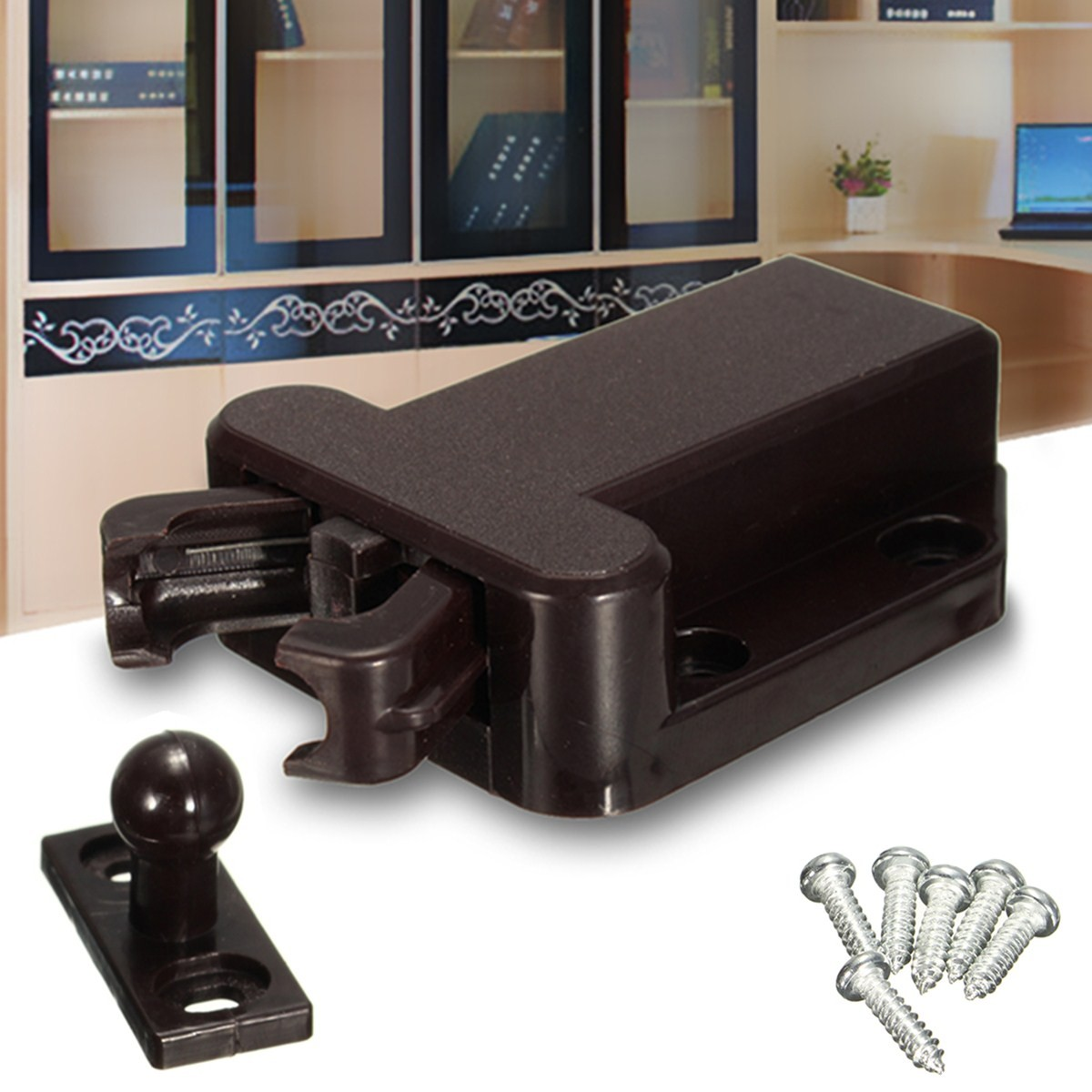 push to open beetles lock drawer cabinet latch catch touch release kitchen cupboard alex nld. Black Bedroom Furniture Sets. Home Design Ideas