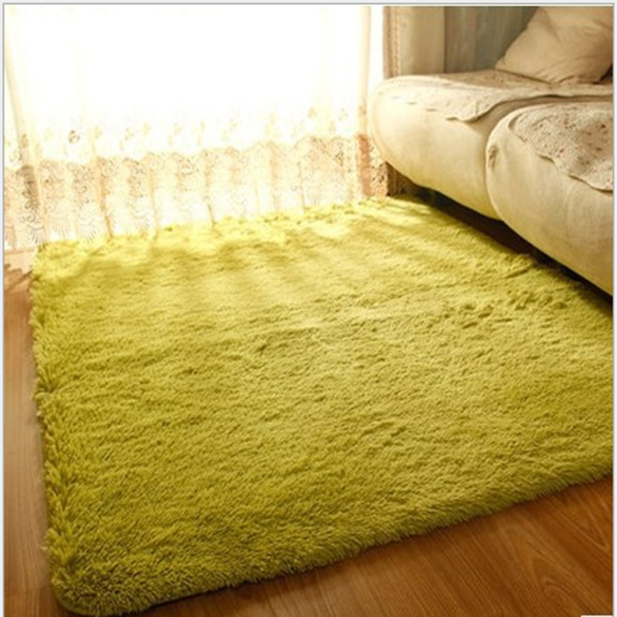 90x160cm Bedroom Fluffy Floor Carpet Mat Soft Shaggy