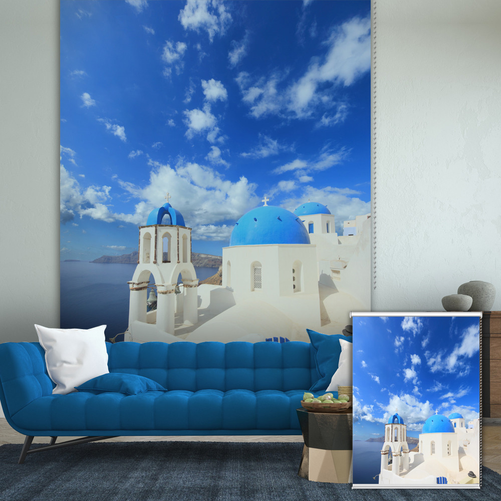 Pag Mediterranean Roller Shutters Print Painting Roller Blind Background Wall Decor Window