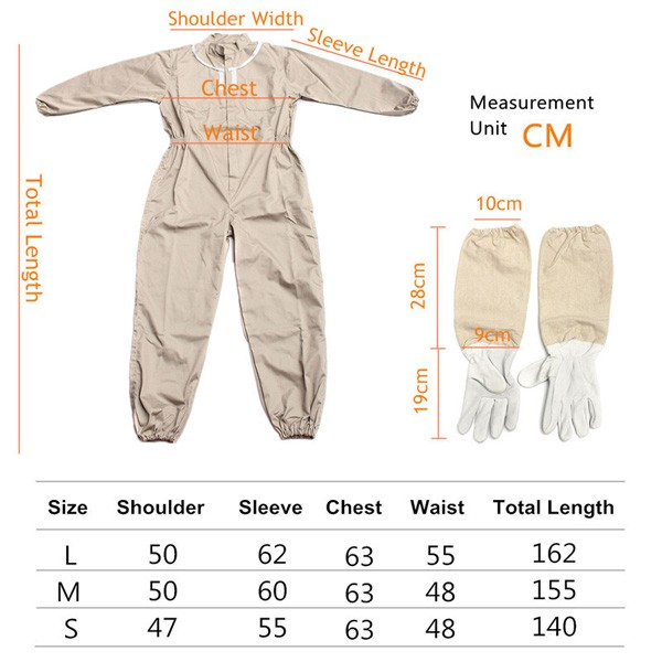 Pure Cotton Beekeeping Suit Bee Suit Heavy Duty Space Suit ...