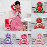 Plush 3D Fruit Printing U Shape Neck Pillow Waist Back Cushion Sofa Bed Office Car Chair Decor