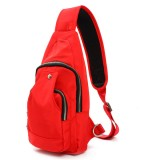 Women Men Nylon Chest Bags Sports Waterproof Crossbody Bags Casual Outdoor Bags
