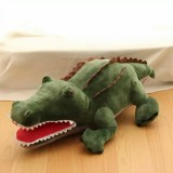 55cm Cute Cartoon Plush Green 3D Crocodile Shape Warm Hand Pillow Kids Toy Creative Gift