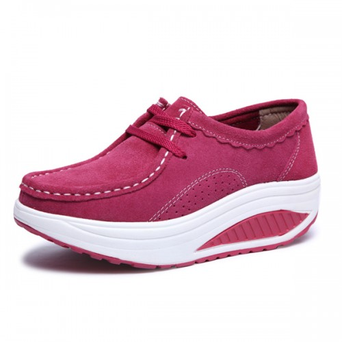 Women Casual Shoes Athletic Shook Shoes Round Toe Lace Up Shoes Soft Sole Shoes