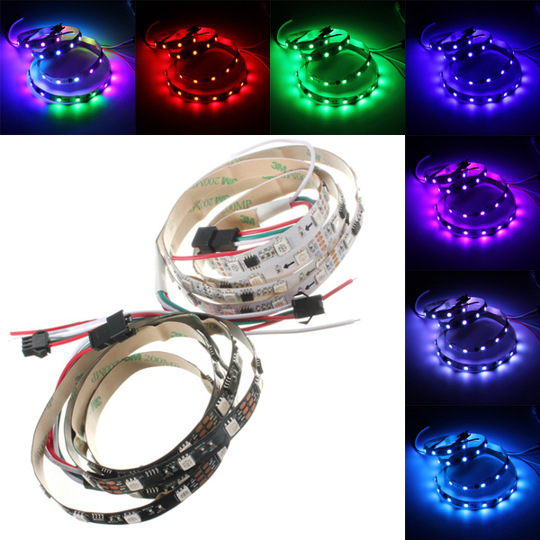Music Controlled LED Strip Light SurLight Waterproof 164ft5M 300LEDs RGB SMD5050 Flexible Color Changing Light