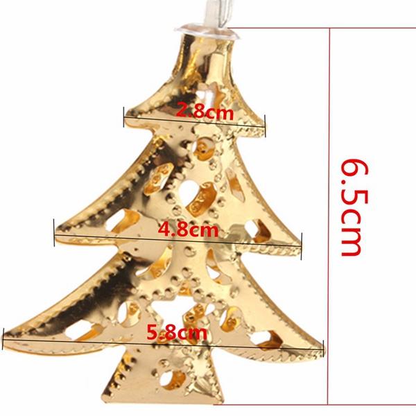 4M 40LEDs Battery Operated Iron Christmas Tree LED Fairy String Light Party Wedding