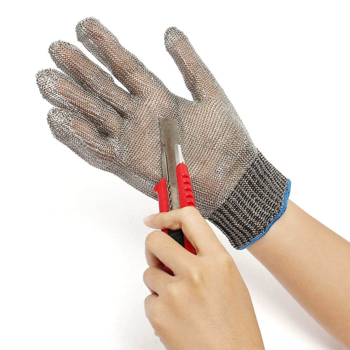 Safety Cut Proof Stab Resistant Stainless Steel Metal Mesh Butcher Gloves