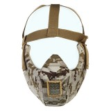 Camouflage Cosplay CS Wargame Tactical Airsoft Skull Shock Resistance Mask WosporT MA75