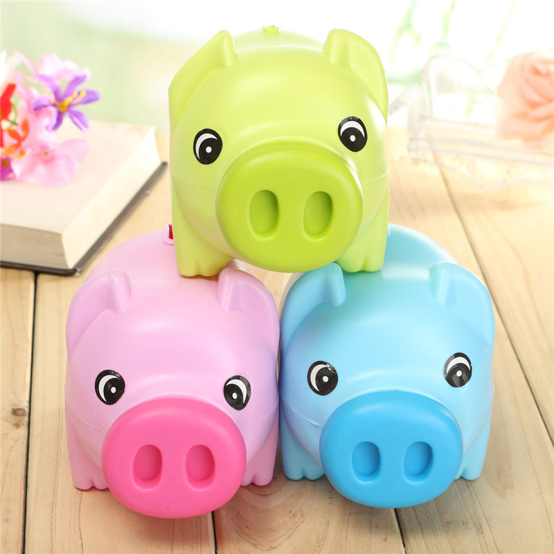 Cute Cartoon Pig Shape Coin Storage Money Saving Piggy ...