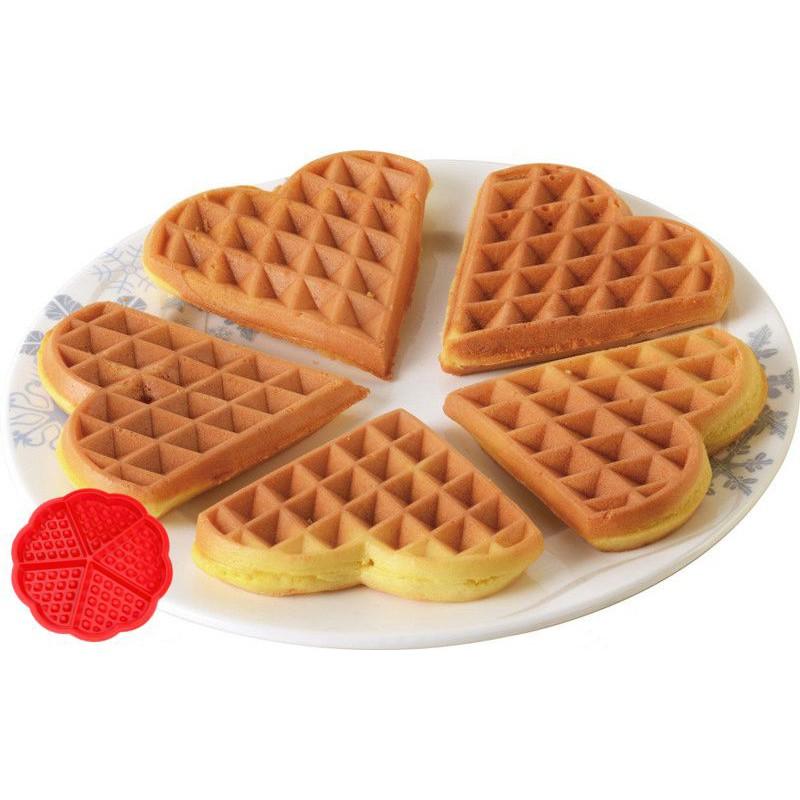 Heart Love Shape Silicone Waffle Mold Mould Cake Baking