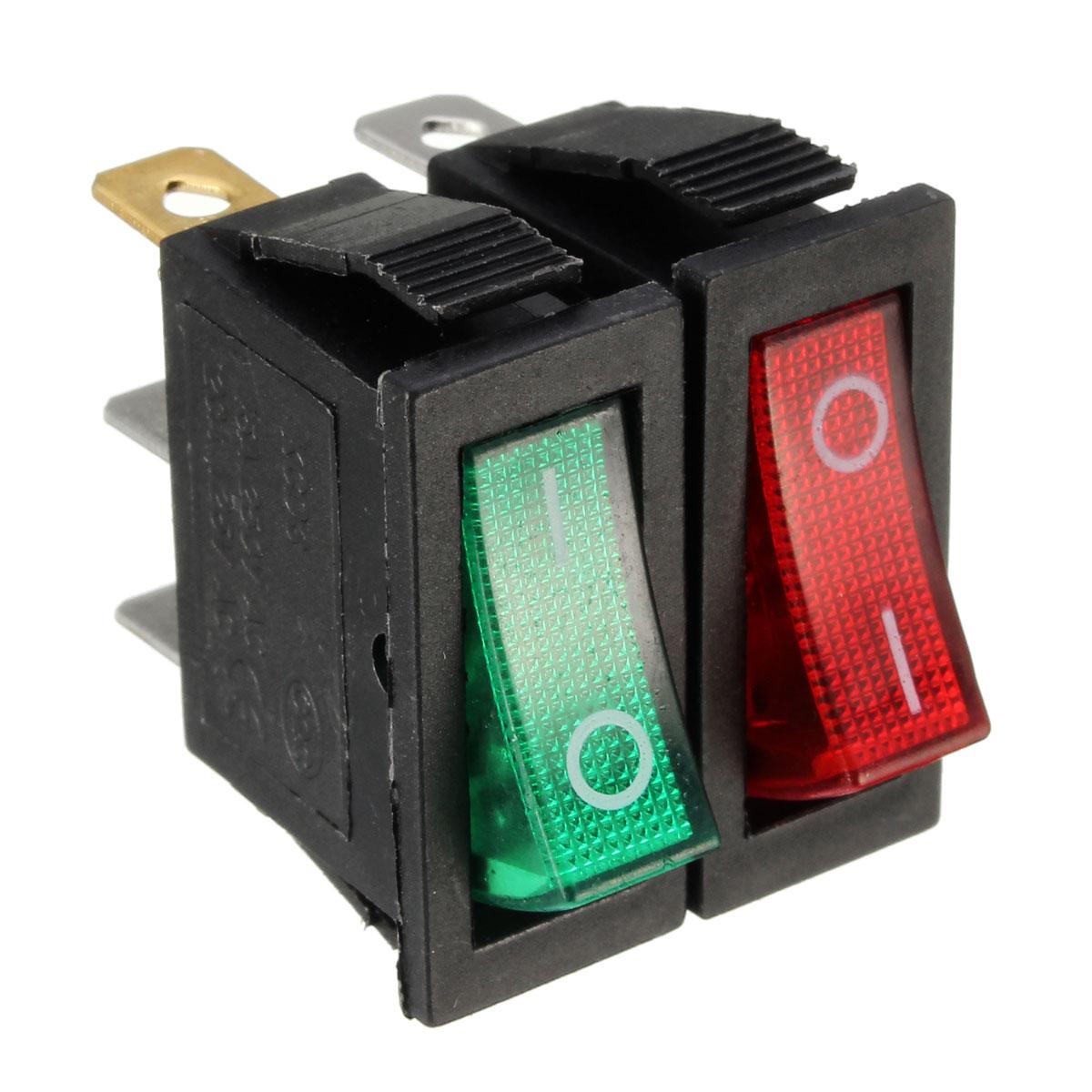 large rectangle rocker switch led lighted car dash boat 3 pin spst 12v alex nld. Black Bedroom Furniture Sets. Home Design Ideas