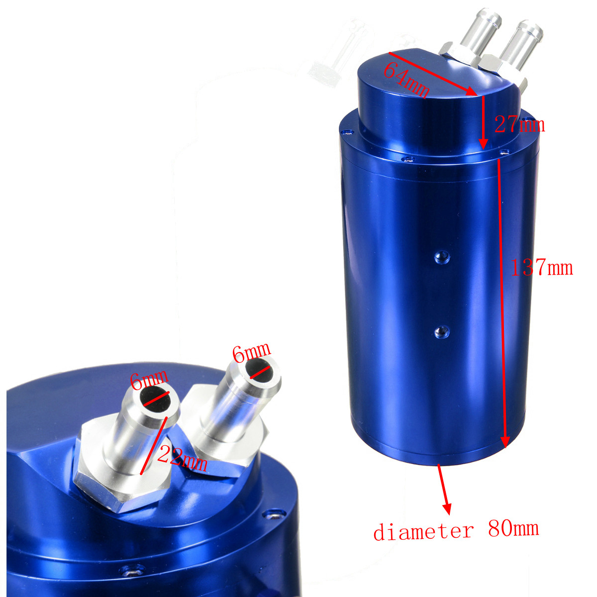 4color universal aluminum racing oil catch tank can turbo. Black Bedroom Furniture Sets. Home Design Ideas