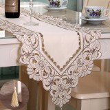 Rectangle Flower Table Runner Tablecloth With Tassel Wedding Party Festival Decor Mat