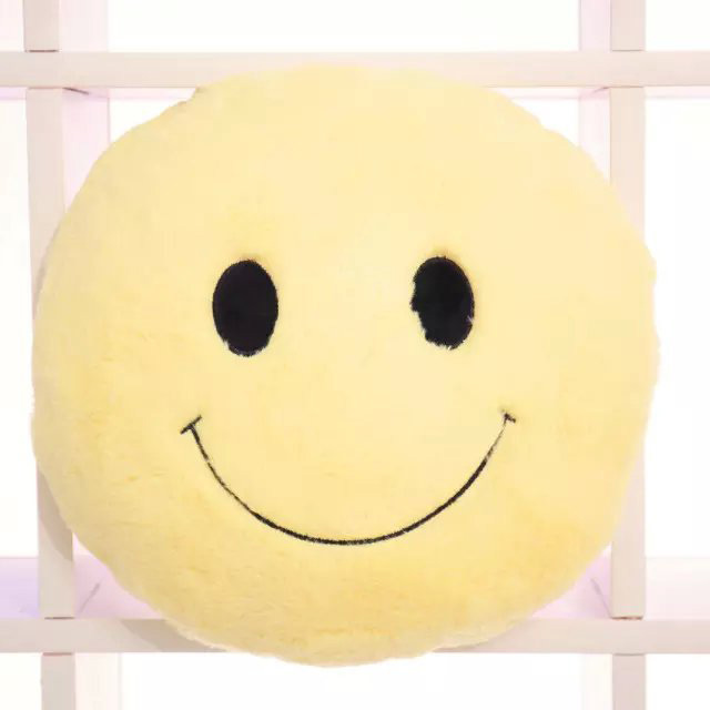 Cute Office Pillow : Cute Smiling Expression Plush Throw Pillow Soft Sofa Car Office Cushion Home Decor Gift Alex NLD