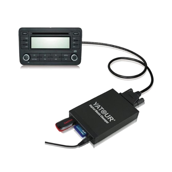 Yatour YT-M06 Digital Music Changer with Sony AI-NET Cable for Sony Series CD, Support USB / SD / AUX / MP3 Music Interface