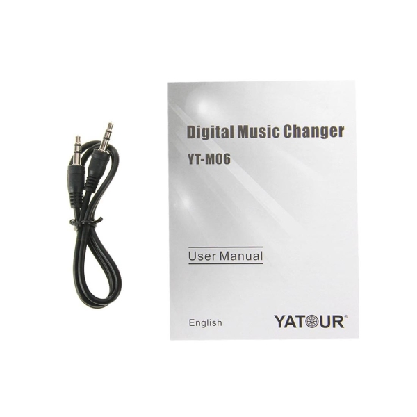 Yatour YT-M06 Digital Music Changer with Clarion 8 Pin Square Cable for Clarion Series CD / Excelle Six-disc / Epica Six-disc / HAIMA323 (Front Six-Disc) Edition / Swift / JIMNY / VITARA, Support USB / SD / AUX / MP3 Music Interface