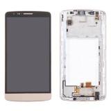 LCD Screen + Touch Screen Digitizer Assembly with Frame for LG G3 Stylus / D690 (Gold)