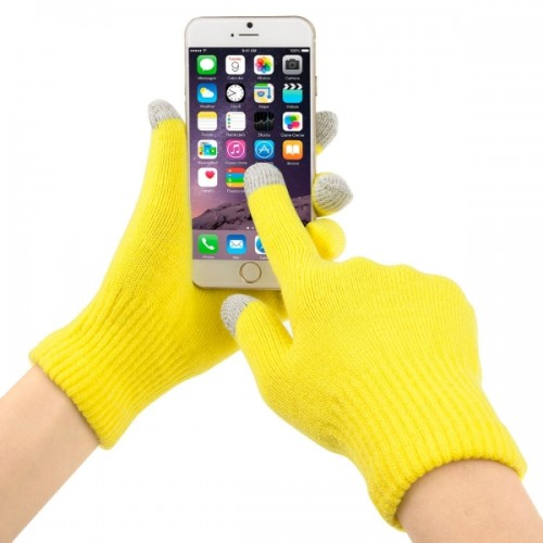 Three Fingers Touch Screen Winter Warm Touch Gloves for iPhone 6 & 6s / iPhone 5, iPad, HTC and Other Touch Screen Device, 21*13cm (Yellow)