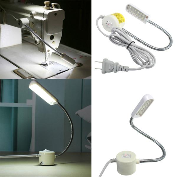40W 40V Sewing Machine 402 LED Gooseneck Light Magnetic Base With US Extraordinary Sewing Machine Plug