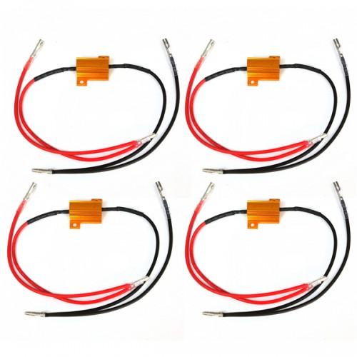 4pcs 12V 25w 8.2 ohm Indicator Light Resistor Flasher Relay Motorcycle Car Aluminum
