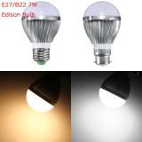 E27 B22 7W Dimmable 10 SMD5730 LED Bayonet Edison Bulb Lamp Globe Light Warm White AC 110-240V