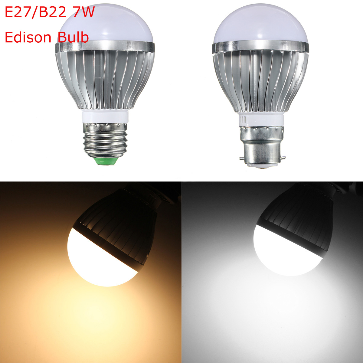 e27 b22 7w dimmable 10 smd5730 led bayonet edison bulb. Black Bedroom Furniture Sets. Home Design Ideas