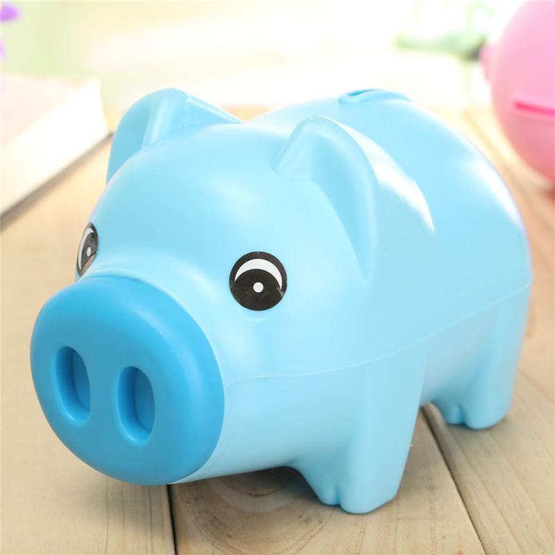 Cute Cartoon Pig Shape Coin Storage Money Saving Piggy Bank For Kids Gift
