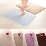 50x80cm Stripe Pattern Memory Foam Mat Absorbent Bathroom Anti Slip Carpet