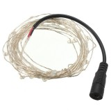 12V 10M 100LED Silver Wire Xmas String Fairy Light Remote Controller without Adapter