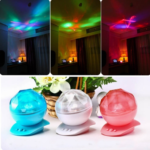 LED Ocean Diamond Projector Light With Speaker Romantic Holiday Party  Christmas Lamp