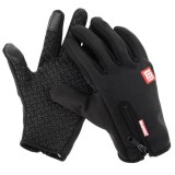 HAWEEL Medium Size Two Fingers Touch Screen Outdoor Sports Wind-stopper Full Finger Winter Warm Gloves for Women