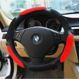 Sandwich Steering Wheel Cover To Cover Movement (Red and black, Adaptation Steering wheel 38cm)