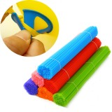 100pcs 38cm Plastic Colorful Balloon Stick Balloon Prop Party Decoration