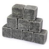 9Pcs Whiskey Stones Rocks Ice Cubes Velvet Bag Whisky Rocks Beer Ice Stone